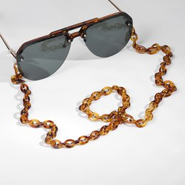 $enCountryForm.capitalKeyWord Australia - Leopard Acrylic Sunglasses Chain Chic Womens Eyeglass Chains Reading Glasses Chain Eyewears Cord Holder Neck Strap Lanyard 70cm