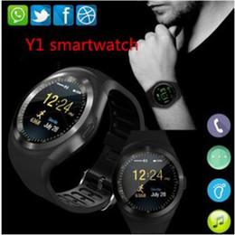 $enCountryForm.capitalKeyWord Australia - Y1 Bluetooth Smart Watch for Android Phone Support SIM TF Card Men Women Smartwatch Clocks Sports Wristwatch PK A1 V8