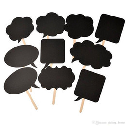 $enCountryForm.capitalKeyWord Australia - 10pcs set Blanket Blackboard Photo Booth Props Paper Mask Party Decoration Masquerade Masks Kids Toys Christmas Event Decor