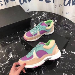 leather racing shoes 2019 - 2018 NEW Runaway leather casual shoes Women and men Fashion Racing Runners men shoes genuine leather fashion Mixed color