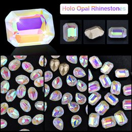 Pack Supplies Australia - 5pcs Per Pack Holo Opal Nail Rhinestones Crystal AB Glitter Nail Art Stones DIY 3d Beauty Charm Decoration Supplies