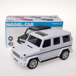 jeep gifts wholesale Canada - JH Mini Diecast Plastic Car Model Toy, Mercedes-Benz, VW Beetle, Jeep Wrangler, Motor Scooter, for Cake Ornament, Xmas Kid Birthday Gift,4-3