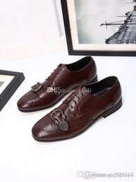 Tan Mens Dress Shoes Leather Australia - Mens casual shoes wingtip black leather formal wedding dress derby oxfords flat shoes tan brogues shoes for men 39-45