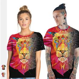 $enCountryForm.capitalKeyWord Australia - Wish tide brand lion digital printing men's sports t-shirt round neck short-sleeved bottoming shirt lovers wear a generation