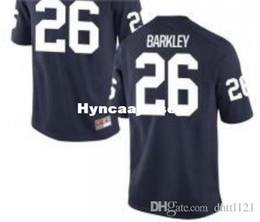 96f1ed6ba Cheap Men  26 Navy White Saquon Barkley Penn State Nittany Alumni JERSEY  Stitched Football jerseys NCAA