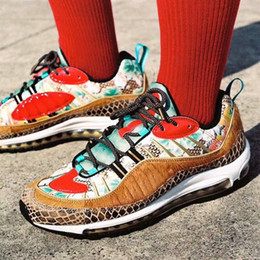 9b91338b40c9 Chaussures 98 Year of the Snake Mens Running Shoes Trainers New Release 98s  OG New Year CNY Lotus Men Designer Shoes US 11