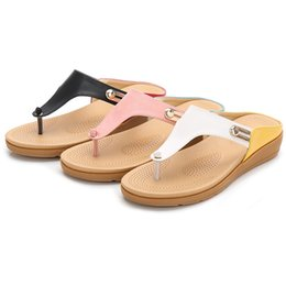 $enCountryForm.capitalKeyWord Australia - Women Sandals Leather Soft Rubber Sole Basic Slip on Women's Summer Shoes Bohemian Beach Slippers Flip Flops B1209