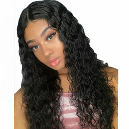 front lace wig ponytail UK - Brazilian Curly Human Hair Wigs 360 Lace Frontal Wig 130% PrePlucked Ponytail Lace Front Wig with Baby Hair Remy Hair Diavs