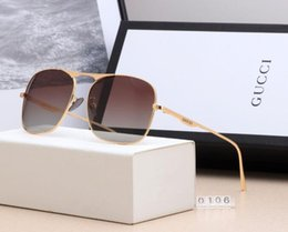 luxury picture frames Australia - Popular sunglasses luxury men's and women's wear brand designer 0106 square summer full picture frame quality anti uv mixed color box