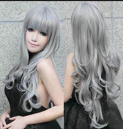 $enCountryForm.capitalKeyWord Australia - LL Dark Silver Grey Wavy Women Cosplay Animation Wig Wigs
