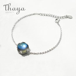 $enCountryForm.capitalKeyWord Australia - Thaya Aurora Ladies' Bracelets S925 Silver Gradient Crystal Magical Bracelet Female Simple Elegant Dainty Friendship Jewelry Y19061203