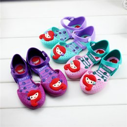 Korean new shoe online shopping - jelly shoes mermaid Korean version of the lovely princess shoes summer new girl sandals MMA2041