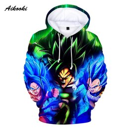 tracksuit 3d mens Australia - Aikooki Super Broly Hoodies Men Women Hoodie Sweatshirts 3D Hooded Mens Tracksuits Polluver Winter Tops