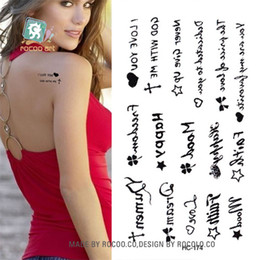 $enCountryForm.capitalKeyWord Australia - Body Art waterproof temporary tattoos paper for men and women Sex simple letter design small tattoo sticker Wholesale HC1174