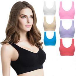 b6270e413c3dd Underwear Seamless Ladies AHH Bra Sport Bras Yoga Bra Microfiber Pullover Bra  Body Shape 9 colors 6 size MMA1234