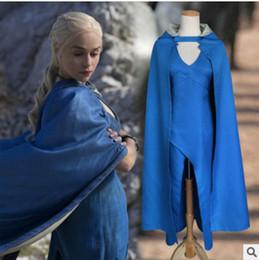 Halloween costumes plus women online shopping - Daenerys Targaryen Cosplay Costume Party Dress for Women Halloween CostumeMX190923