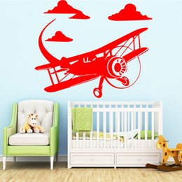 Airplane Art Australia - Funny Airplane Window Sticker Wall Stickers Art Wall Paper For Living Room Kids Room Decoration Accessories Murals