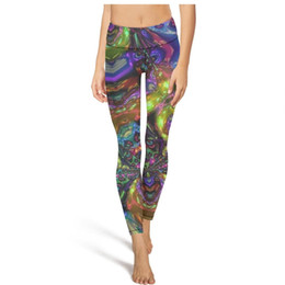Ordering laptOp online shopping - Cool trippy Laptop High Waist Yoga Pants Womens Gym Yoga Pants Elastic Designer Tights Long Leggings Black