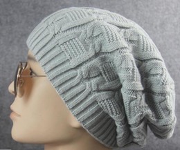 Korean yarn online shopping - New winter new style Korean hat knitted caps neutral thickening double woolen cap Free Delivery W270