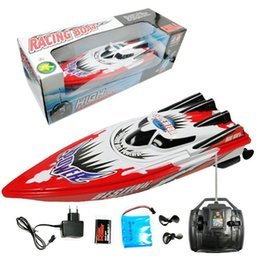 Discount remote control 9v - Durable RC 2.4GHz Remote Control Boat High >6 Years old Speed 1 x 9V Dry Battery Racing 180min Boats 30m