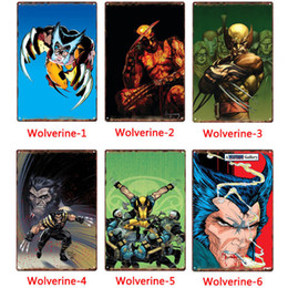 Pictures marvel online shopping - Marvel Super hero Wolverine Metal Signs Tin Painting Posters Crafts Supplies Art Picture cm Bar Cafe KTV Home Wall Decor