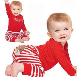 $enCountryForm.capitalKeyWord Australia - Hot 2PCS Set Newborn Toddler Baby Boys Xmas Clothes Romper Pants Santa Claus lucky child Christmas Costume Outfits Clothes