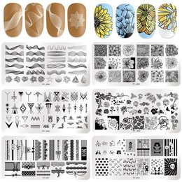 $enCountryForm.capitalKeyWord Australia - PICT YOU Nail Stamping Plates Butterfly Flower Leaf Mixed 12cm * 6cm Nail Art Image Plate Stencils Stainless Steel Design