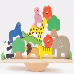 $enCountryForm.capitalKeyWord Australia - Building Blocks Kits Baby Jenga Early Learning Toy Forest Animals Seesaw Wood Toys Clowns Balance Beam New Arrival 23yx O1