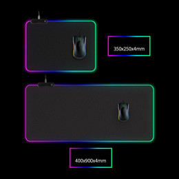 LED light Mouse pad 300*800*4mm computer thickening RGB game competitive keyboard desktop mouse pad 5 size dhl free on Sale