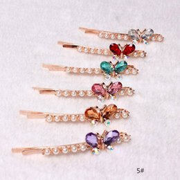 crystal plastic hair clip Canada - 2pcs Pair Women Girls Shiny Crystal Rhinestones Hairpins Barrettes Hair Clips Hairstyle Design Styling Tool Hair Accessories
