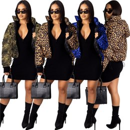 leopard parka NZ - Women Down & Parkas Cardigan print leopard Camouflage thickened cotton sportswear jacket coat tops warm outerwear fall winter clothing 1807