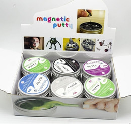 $enCountryForm.capitalKeyWord Australia - Magnetic Putty Magnetic Rubber Mud DIY Clay Creative Playdough Magnet Novelty Educational Slime Toys 6 Colors with display box