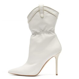 $enCountryForm.capitalKeyWord Australia - Goddess2019 Fine Sharp Season With Shoe Wind White Sleeve In Fold Woman Boots 40