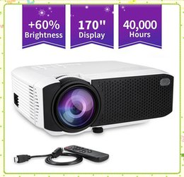 led hdmi NZ - D40W WiFi Mirroring Mini Projector 1600 lms protable movie projector with 30,000Hrs HDMI USB 3.5mm jack LED Lamp Home projectors MQ10