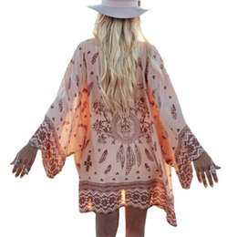 $enCountryForm.capitalKeyWord Australia - Shirt Women Kimono Boho Cardigan Vintage Geometric Print Blouse Loose Shawl Cape Knits Bohemian Coat Jacket Two Color