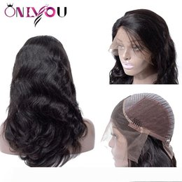 virgin indian remy hair for NZ - Brazilian Body Deep Wave Full Lace Human Hair Wigs Cheap Peruvian Lace Front Wigs For Black Women Girl Raw Indian Remy Virgin Hair