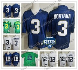Notre Dame Fighting Irish Stitched White Green Navy Blue Hot Sale NCAA  College Football Jerseys  12 Ian Book 3 Joe Montana 18be399e2