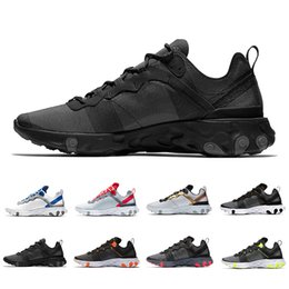 watch b1f79 4eb72 2019 Triple black Solar Red React Element 55 Total Orange Men Running Shoes  For Women Designer Sports Mens women Trainer 55s Sneakers 36-45
