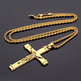 $enCountryForm.capitalKeyWord NZ - Popular Hip Hop Ornament Jesus Cross Pendant Necklace Hip Hop Rapper Rocker Party Necessary Accessories 3 Styles