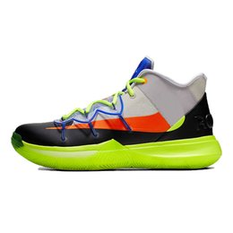 98f299fcb260 2019 Kyrie 5 Green All star Mens Basketball Shoes Chaussures 5s Men Rainbow Rokit  Trainers Sports Sneakers Size 7-12