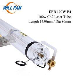 Vente en gros Will Fan 100W EFR F4 Co2 Laser Tube Longueur 1450 mm Diamètre 80 mm pour la gravure laser CNC Cutter machine