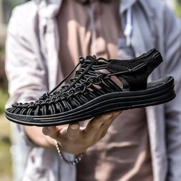 $enCountryForm.capitalKeyWord Australia - New Elastic Lace Handwoven Shoes for Women in Summer 2019 Airpermeable Leisure Sports Shoes Single for Women with Flat sole Single