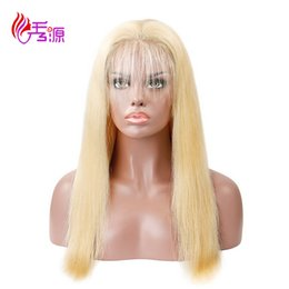 Discount full human lace wigs silky - Xiuyuan #613 Blonde Hair Factory Price Straight Virgin Remy Human Hair Lace Front Wigs Straight Lace Full Wigs With Baby