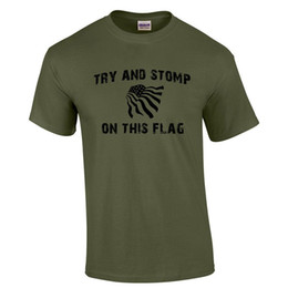 e9a583694de44 Usa Army Flag UK - Try and Stomp On This Flag T Shirt USA Don