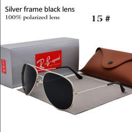 Golden Flash Drive Australia - Brand Designer Polarized Sunglasses Classic Pilot Sun glasses for Men Women Driving glasses UV400 Metal Frame Flash Mirror polaroid Lenses