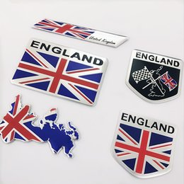 Wholesale 2019 Hot England Flag Car Stickers United Kindom Emblem UK Badge Decal For BMW Audi Ford Land Rover Mini Cooper Jaguar Auto Styling