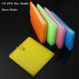 DvD cases storage online shopping - 2019 Hot Sale Nice Plastic CD DVD Disc Double Sleeve Holder Clear Storage Case Package