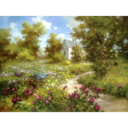 Enchant Art Australia - Art Gift beautiful landscapes oil paintings The Enchanted Garden hand-painted bedroom decor