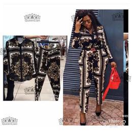 Großhandel 2018 neue Fahsion (L-XXXXL) Afrikanische Kleidung Für Lady Dashiki Top und Hosenanzug Chiffon Kleid