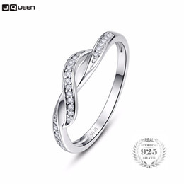 infinity crystals Australia - 925 Sterling Silver Infinity Ring Eternity Ring Crystal Best Friend Gift Endless Love Symbol Fashion Finger Rings For Women